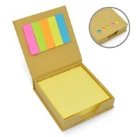 Bloco Anotações Personalizado | Bloco de Anota??es Eco com Post-it - DIRECT BRINDES