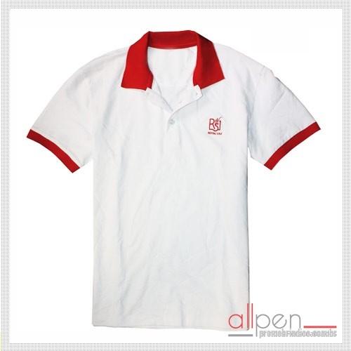819026474 Camisa polo personalizada - Camisa polo em malha piquet com várias cores