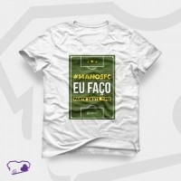 Camiseta branca com estampa em Transfer Digital