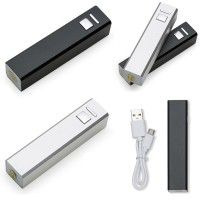 Carregador de celular Personalizado | Carregador Slim Tubo Metal USB Power Bank - DIRECT BRINDES