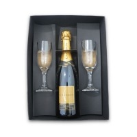 Kit bebidas Personalizado | Kit Chandon com 2 Ta?as Gallant - DIRECT BRINDES
