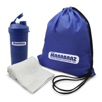 Kit fitness Personalizado | Kit Fitness 3 p?s com Coqueteleira - DIRECT BRINDES