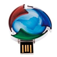 PEN DRIVE CUSTOMIZADO EM RESINA RETRATIL