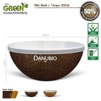 Pote Personalizado | Mini BOWL GREEN com Tampa 240mL - DIRECT BRINDES