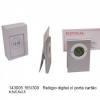 Relogio digital com porta cartao