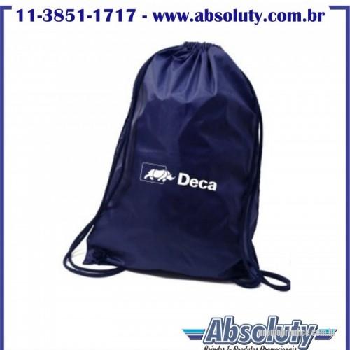 effcbd8e2 Sacola de Nylon personalizada - Mochila saco confeccionada em Nylon 70  resinado tamanho 44×32